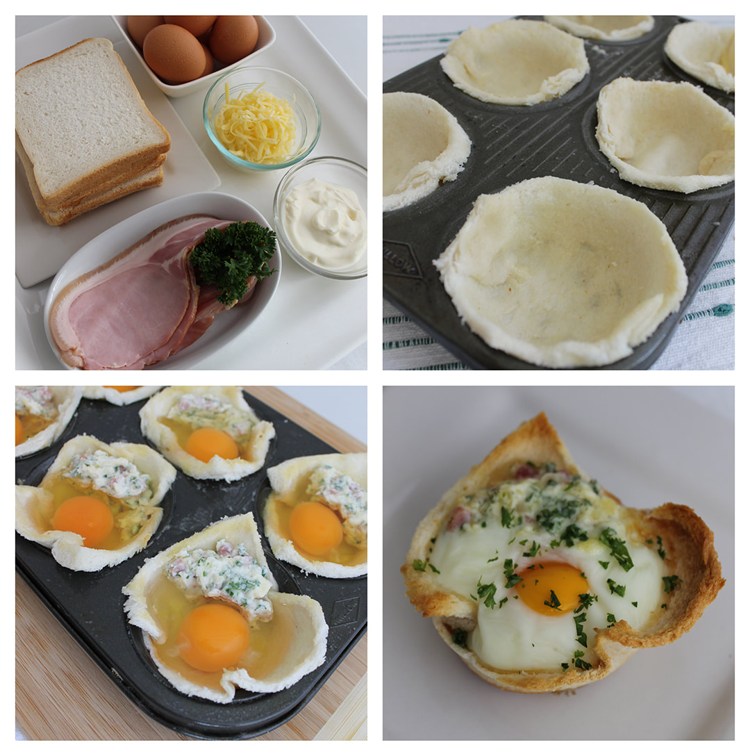 Baked Egg Pies are great for Sunday Brunch