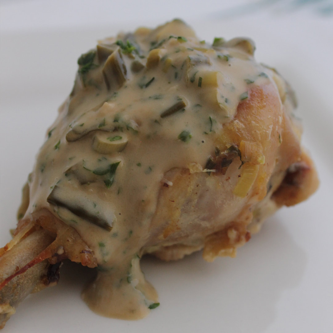 Chicken lovely legs with diance sauce