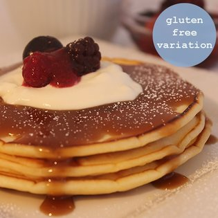 Homemade Pancakes - gluten free variation included