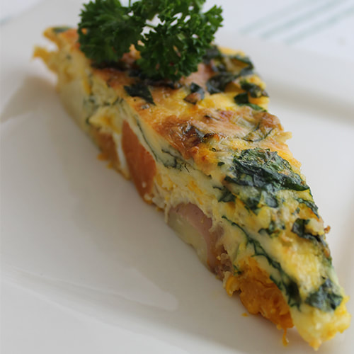 You can put just about anything in a frittata! Delicious vegetable frittata, gluten free.