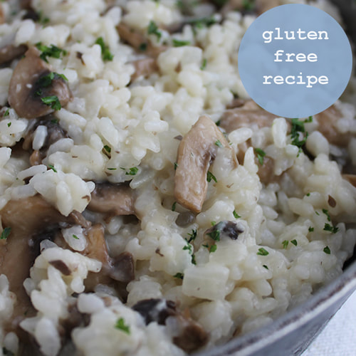 Basic Risotto - with many variations. Naturally a gluten free recipe.
