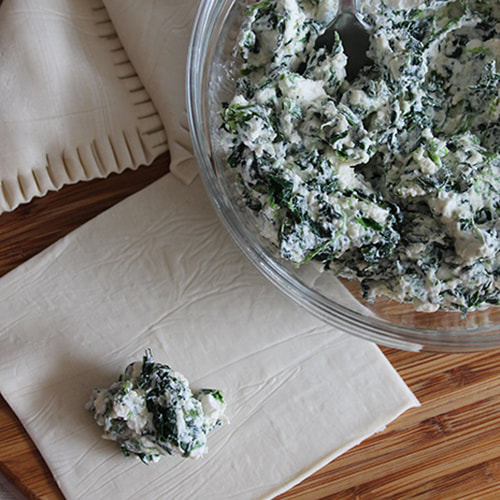 Spinach and Feta Pasties Mixture