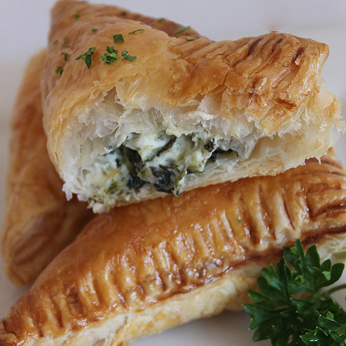 Spinach and Feta Pasties