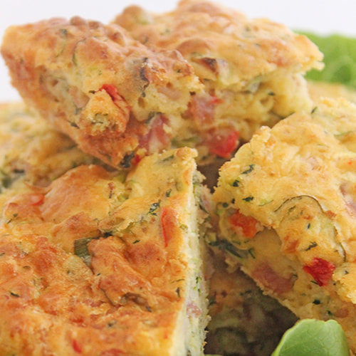 Zucchini Slice - Gluten Free Variation included